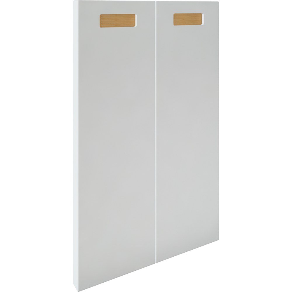 2p Door f Corner Base Cabinet Set Right Hand White  3D View