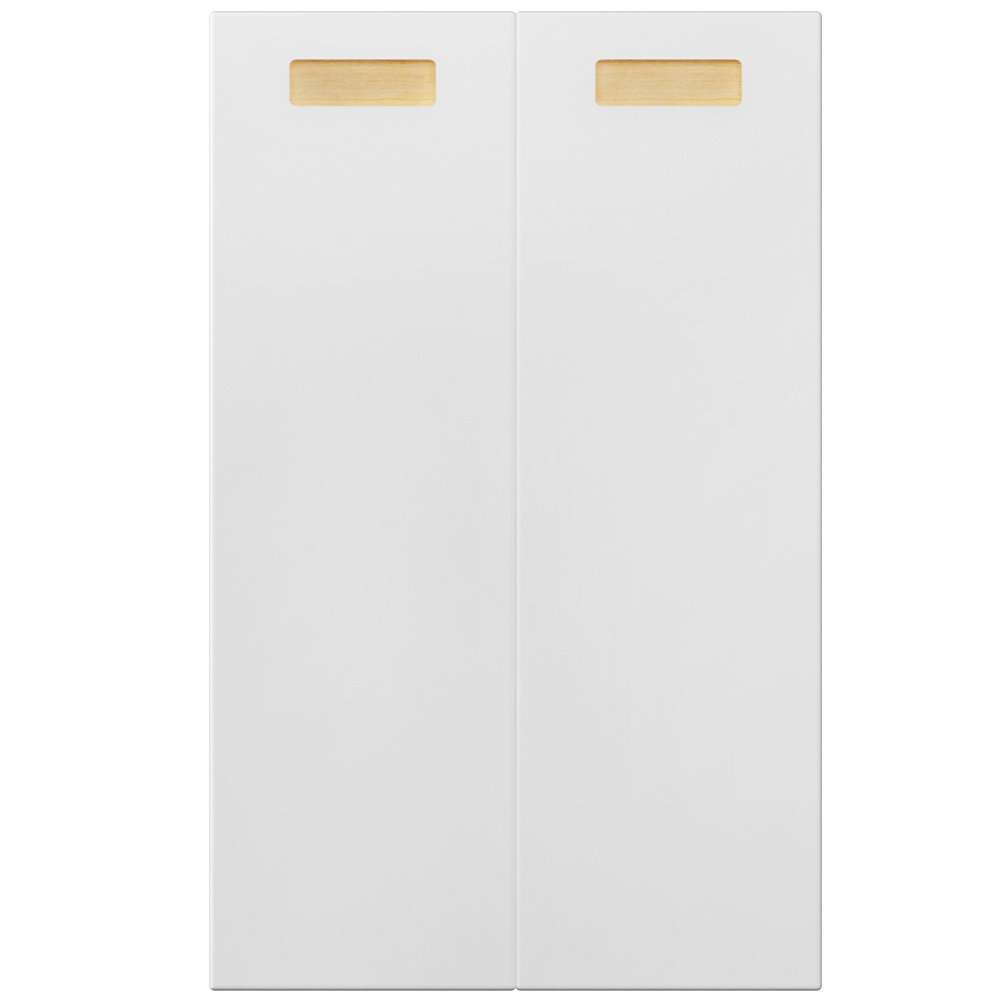2p Door f Corner Base Cabinet Set Right Hand White  Front