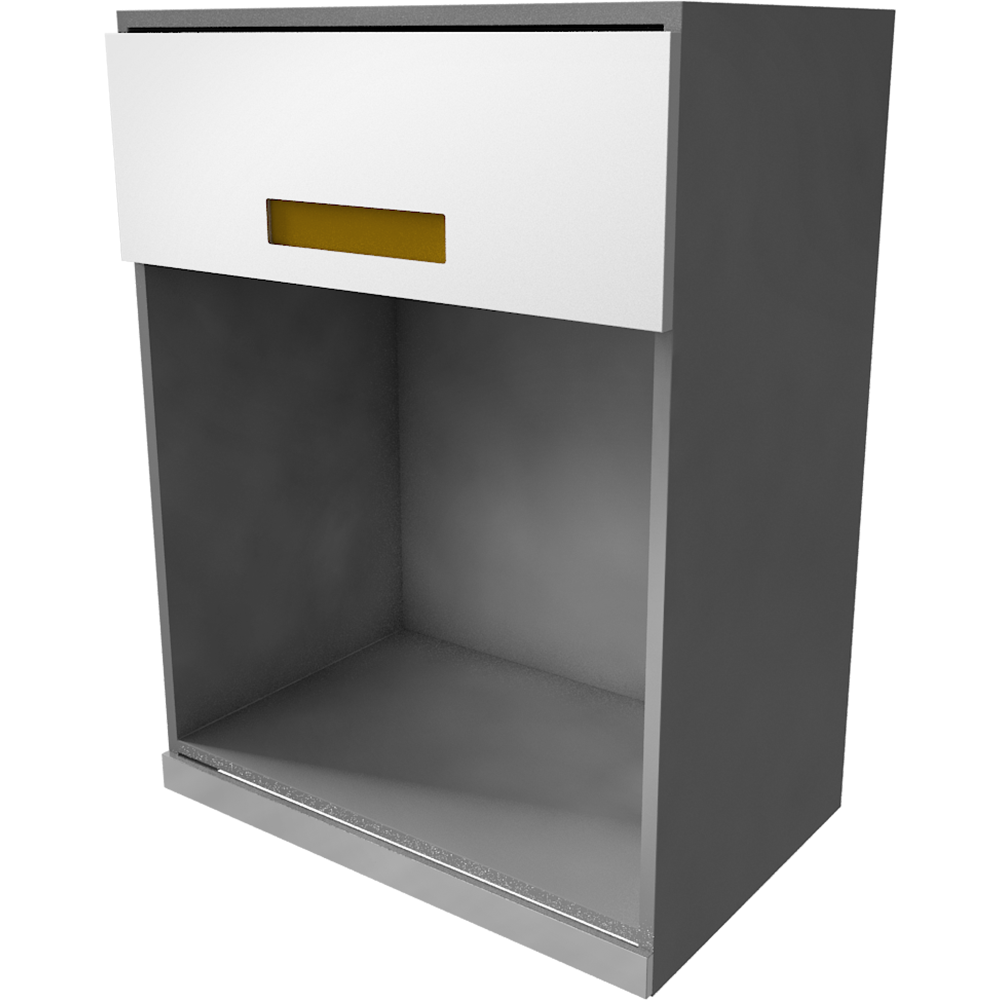 METOD MAXIMERA Wall Cab with 2 Glass Doors 2 Drawers White Torhamn Ash  3D View