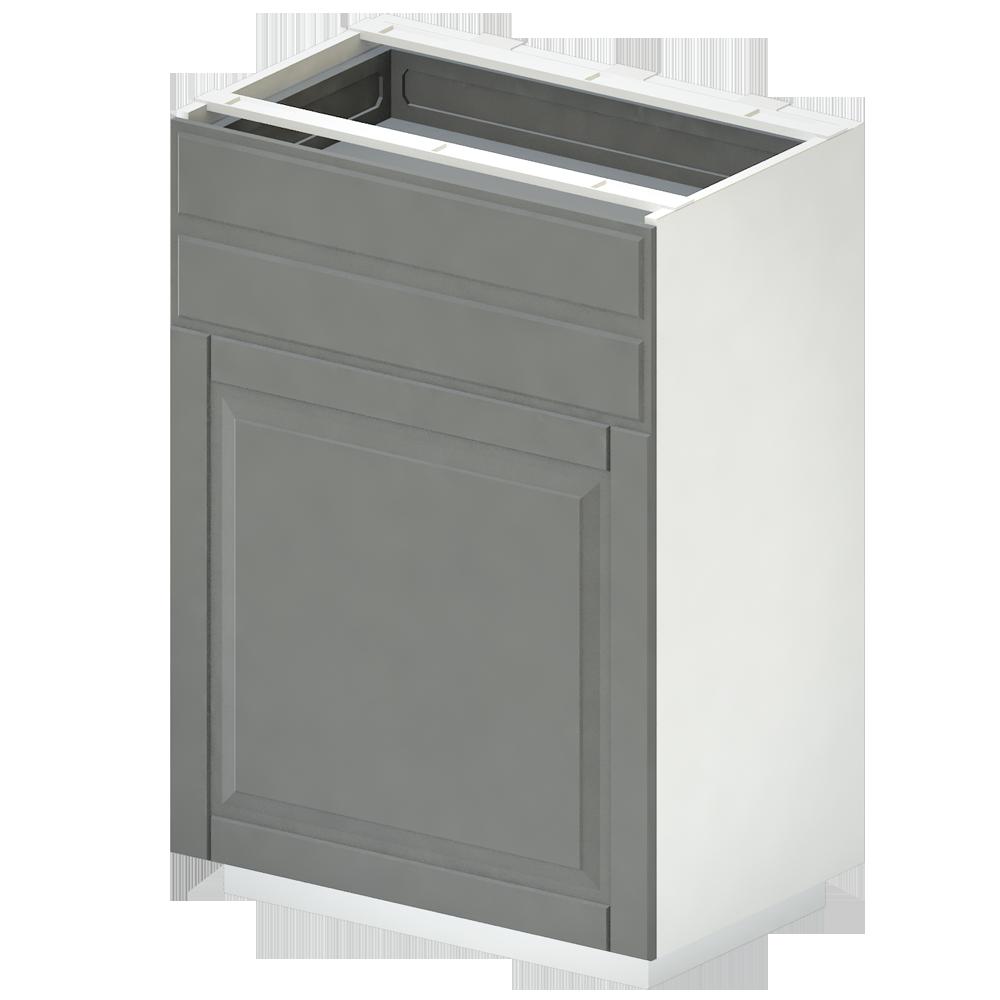 METOD Base Cab f Sink Waste Sorting White Veddinge Grey  3D View