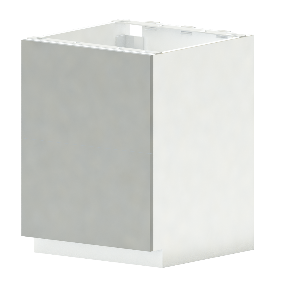 METOD FÖRVARA Base Cab 4 Fronts 4 Drawers White Ringhult White  3D View