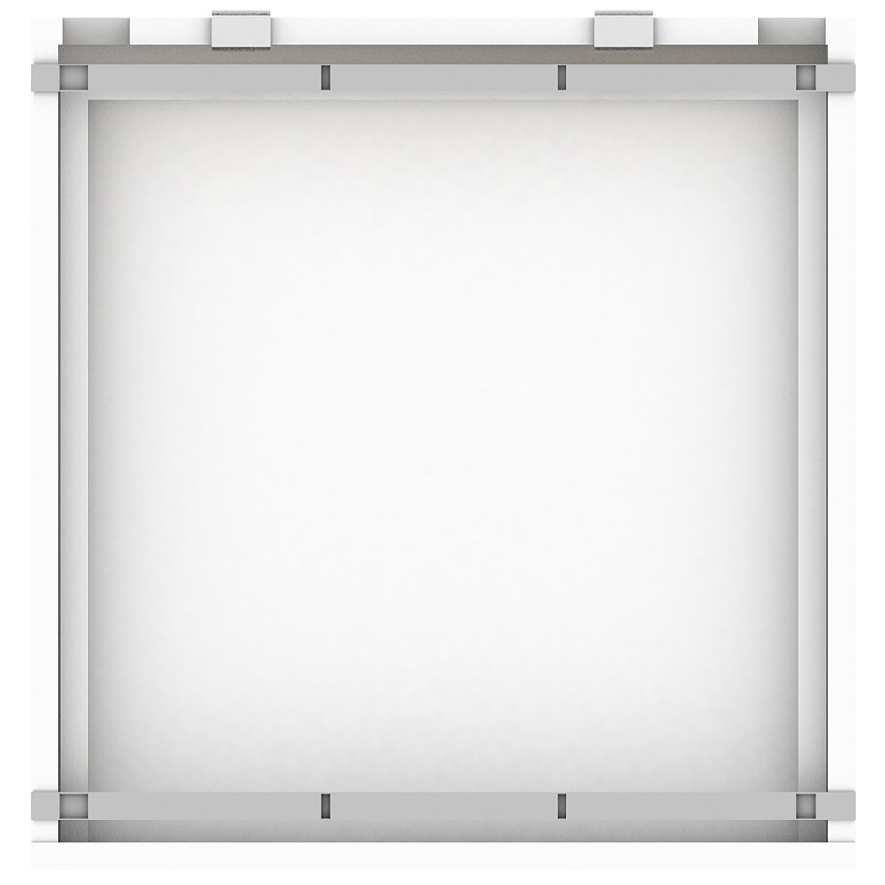 METOD Base Cabinet With Shelves White Ringhult White variante  Top
