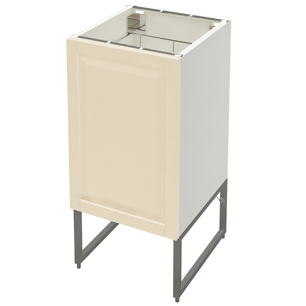 METOD Base Cabinet With Shelves 2 Doors White Veddinge Grey  3D View