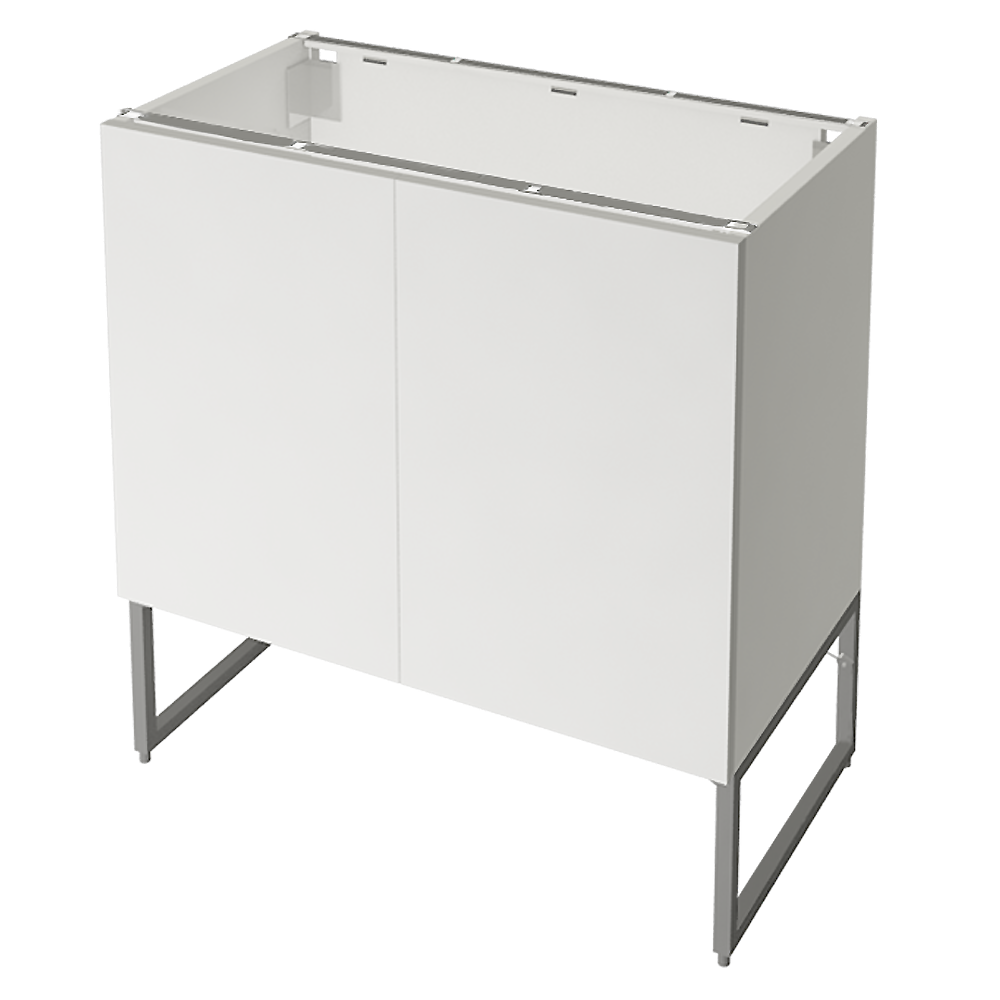 METOD FÖRVARA Base Cabinet 6 Front 6 Low Drawers White Voxtorp Walnut  3D View