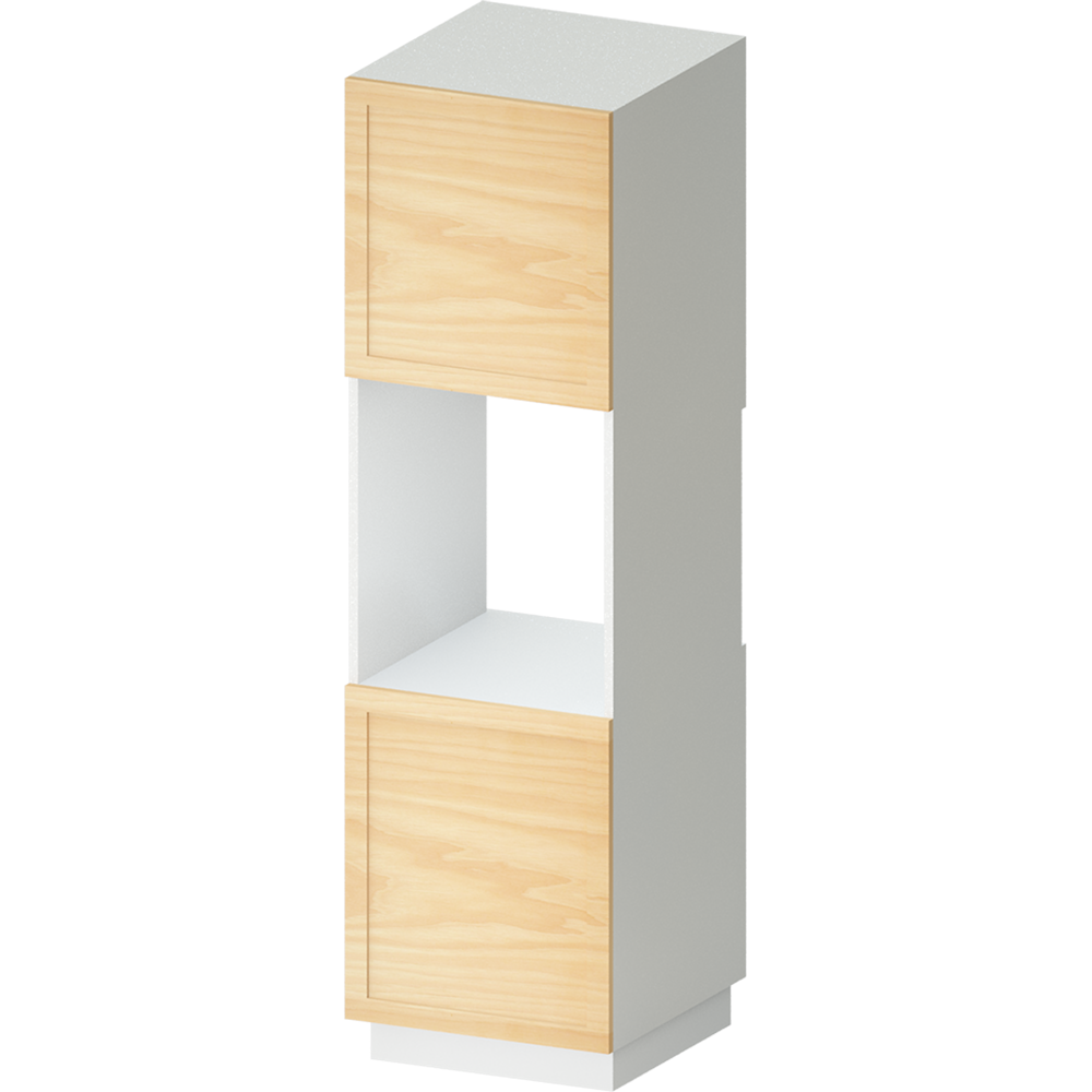 METOD High Cabinet For Fridge with 2  Dorrs White Torhamn Ash  3D View