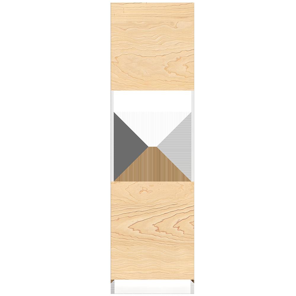METOD High Cabinet For Fridge with 2  Dorrs White Torhamn Ash  Front