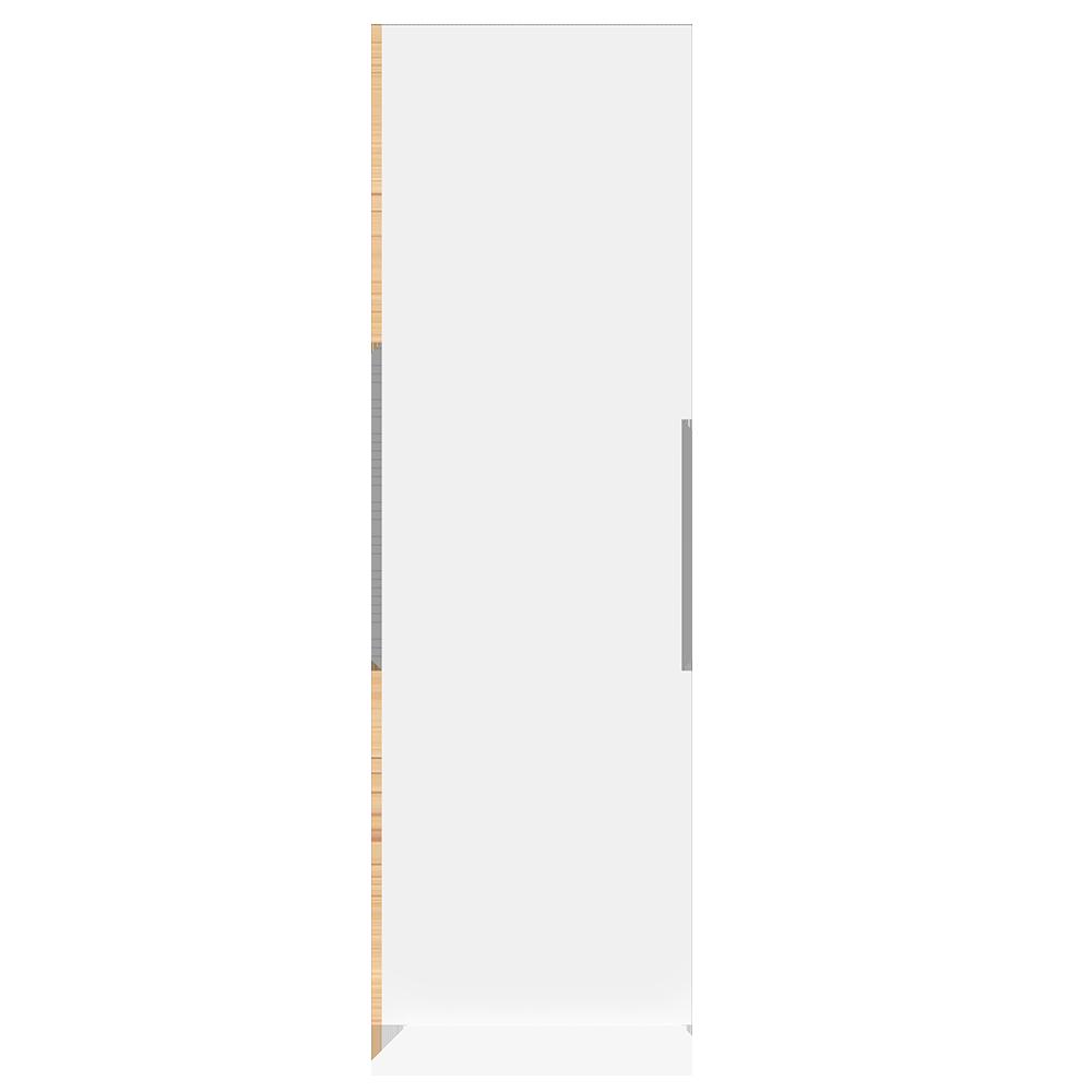 METOD High Cabinet For Fridge with 2  Dorrs White Torhamn Ash  Right
