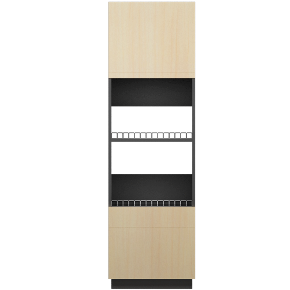 METOD MAXIMERA Hi Cab f ov combi ov with dr 3 Drawers White Voxtorp Walnut  Front