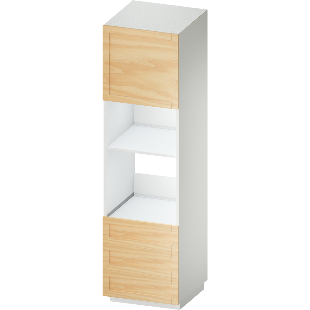 METOD MAXIMERA High Cab for Combi Micro 4 Drawers White Voxtorp Walnut  3D View