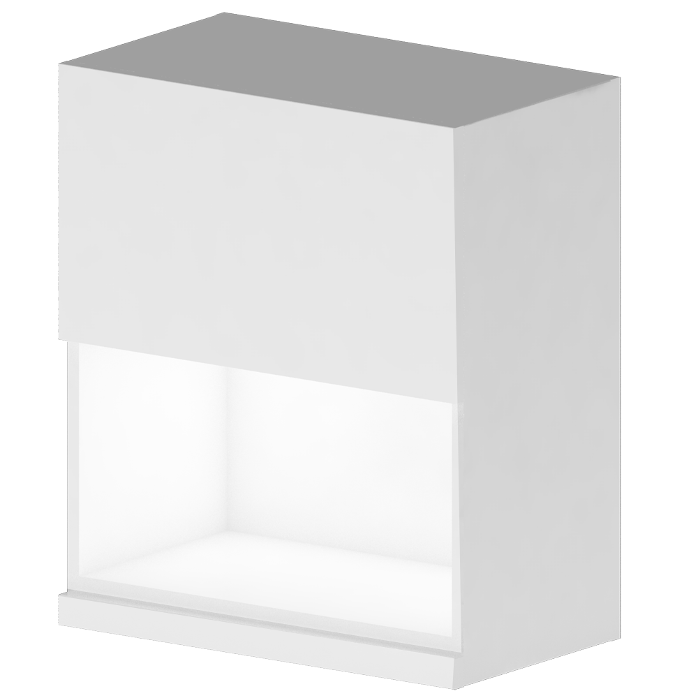 METOD MAXIMERA Wall Cabinet w 2 Doors 2 Drawers White Ringhult White  3D View