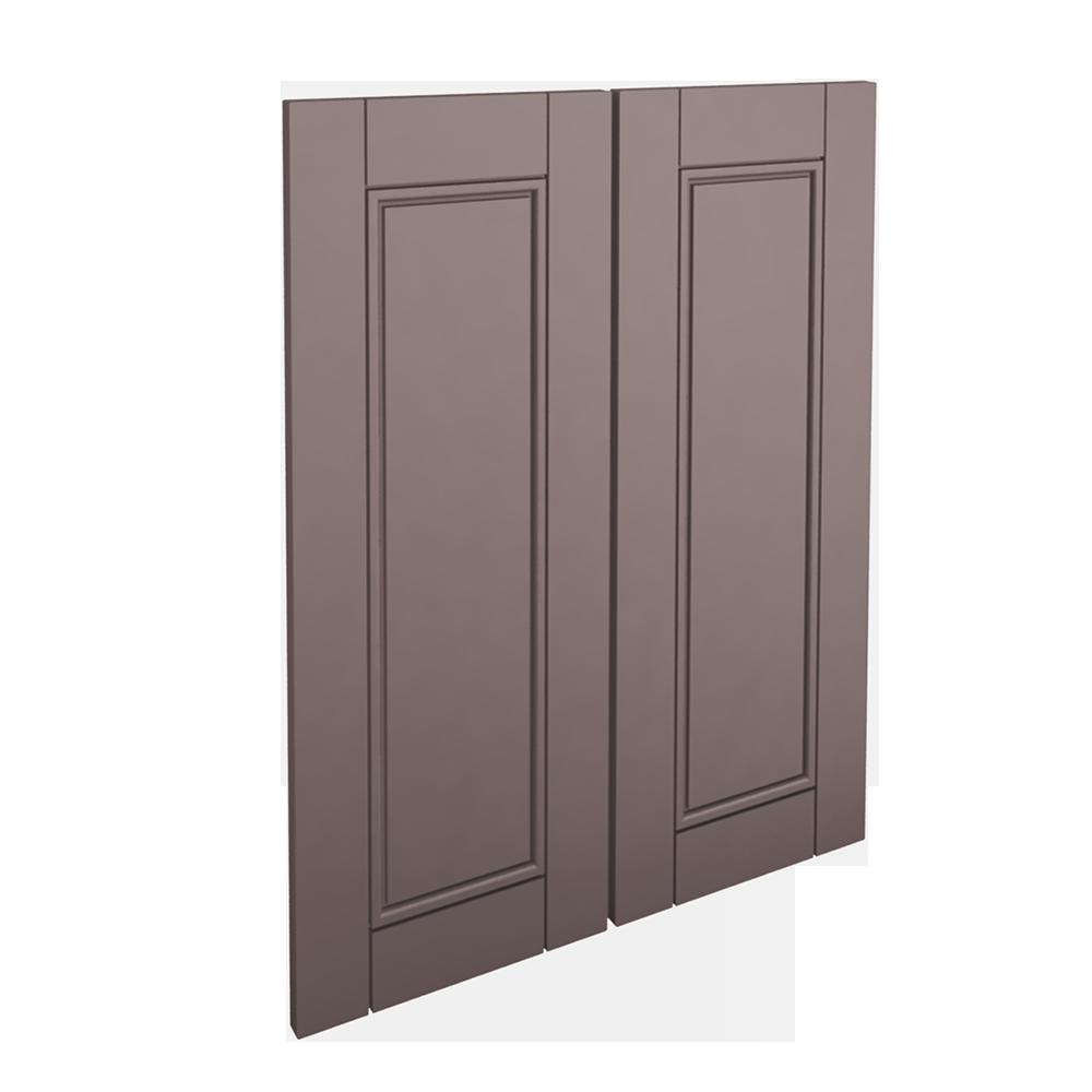 LAXARBY 2p door f corner base cabinet set black brown  3D View
