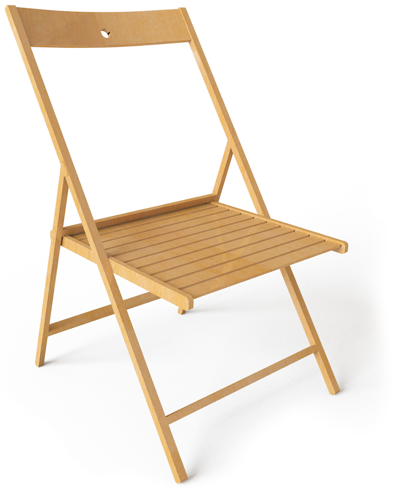 CAD and BIM object Terje Folding Chair IKEA