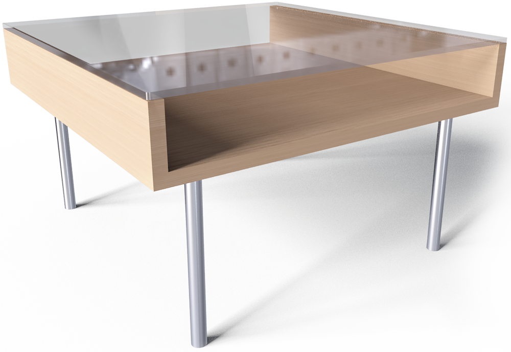 Cad and bim object magiker coffee table ikea - Table basse verre ikea ...