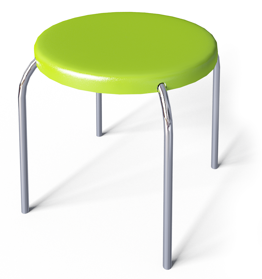 Forsby Small Stool  3D View
