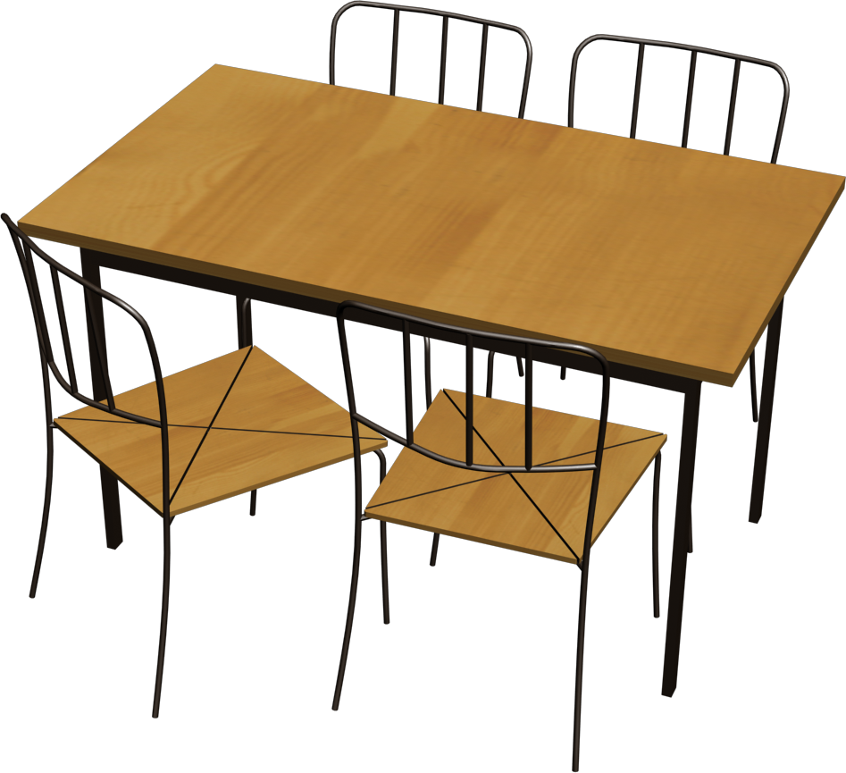 Cad And Bim Object Antnas Table And 4 Chairs Ikea
