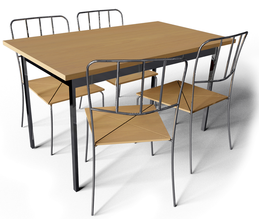 Cad and bim object antnas table and 4 chairs ikea for Table 4 personnes ikea
