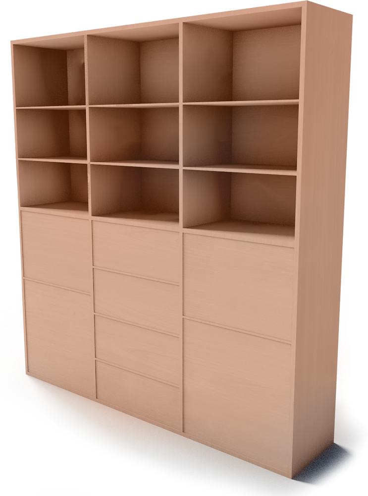 Cad And Bim Object Besta Storage Combination With Doors Drawers Ikea