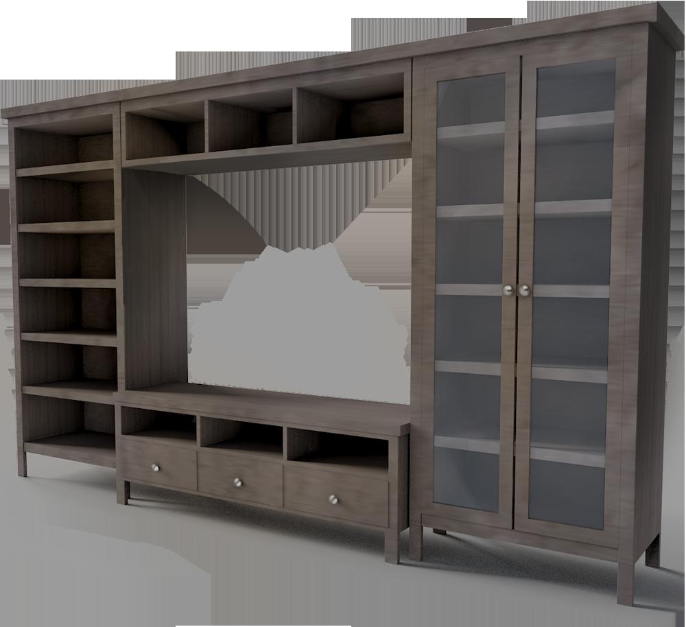 TV Storage combination  3D View