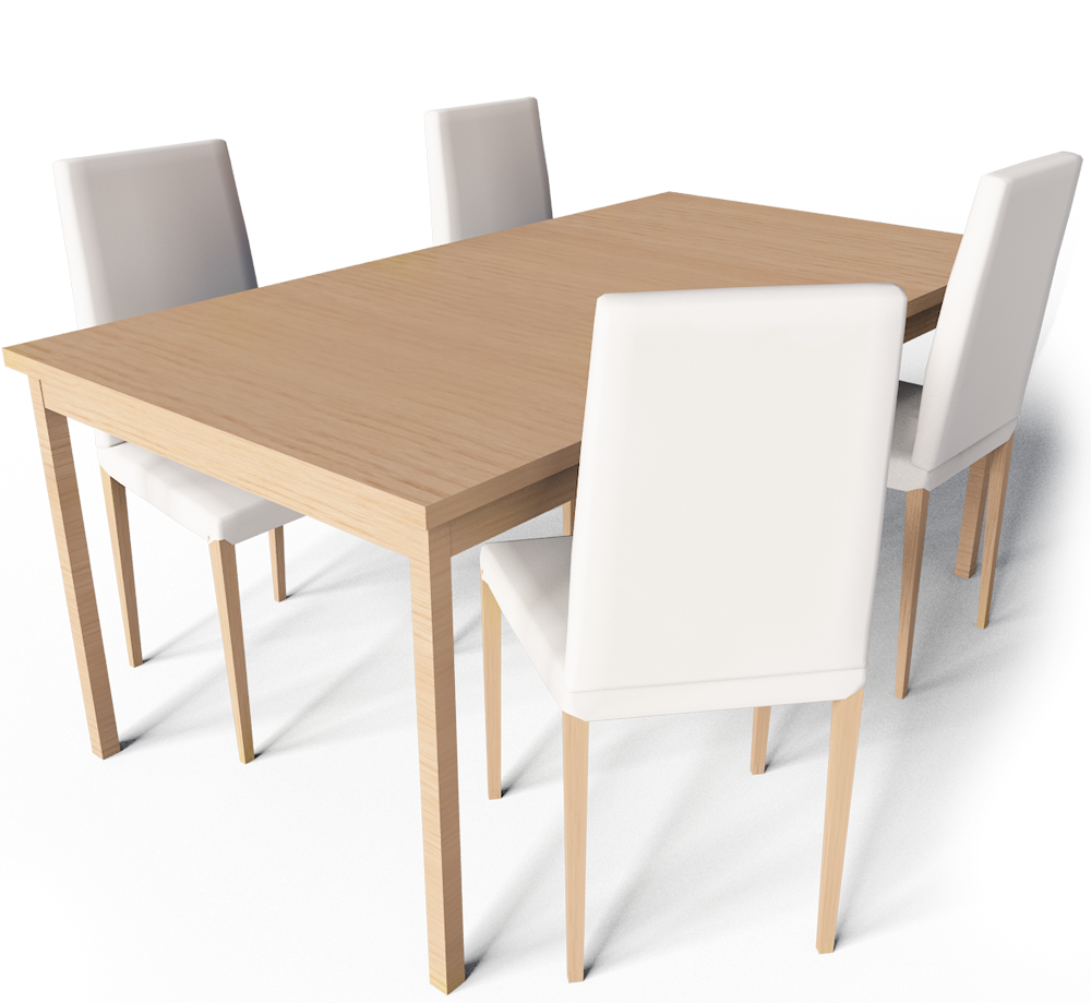 Cad and bim object extendable dining table ikea - Ikea table extensible ...