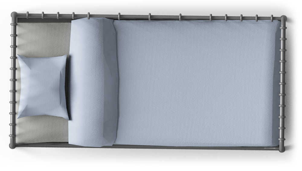 single bed top view. Single Bed Top View C