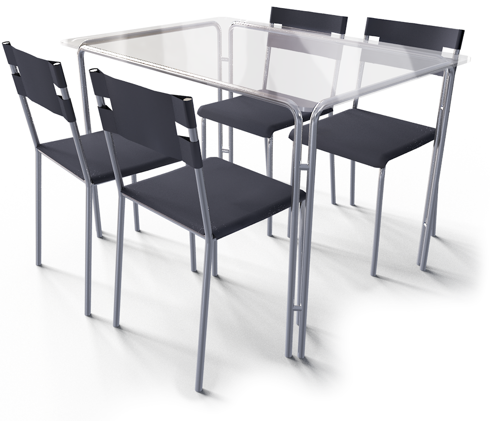Cad and bim object laver table and 4 chairs ikea for Table ikea 4 99