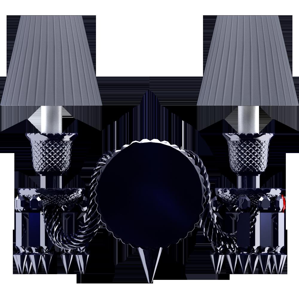 Zenith Wall Unit 2L Black Crystal  Back