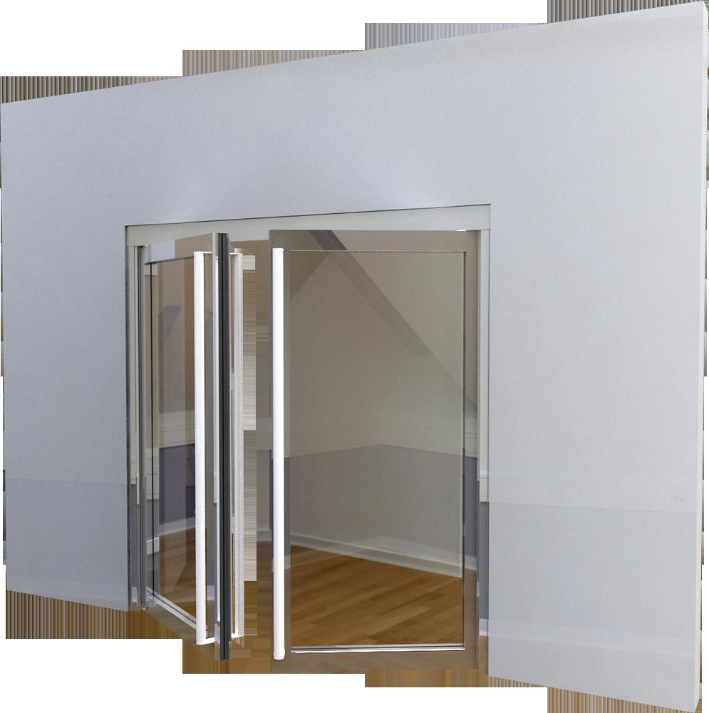 Cad and bim object porte vitree ei60 neo 2 vantaux for Porte 3 vantaux