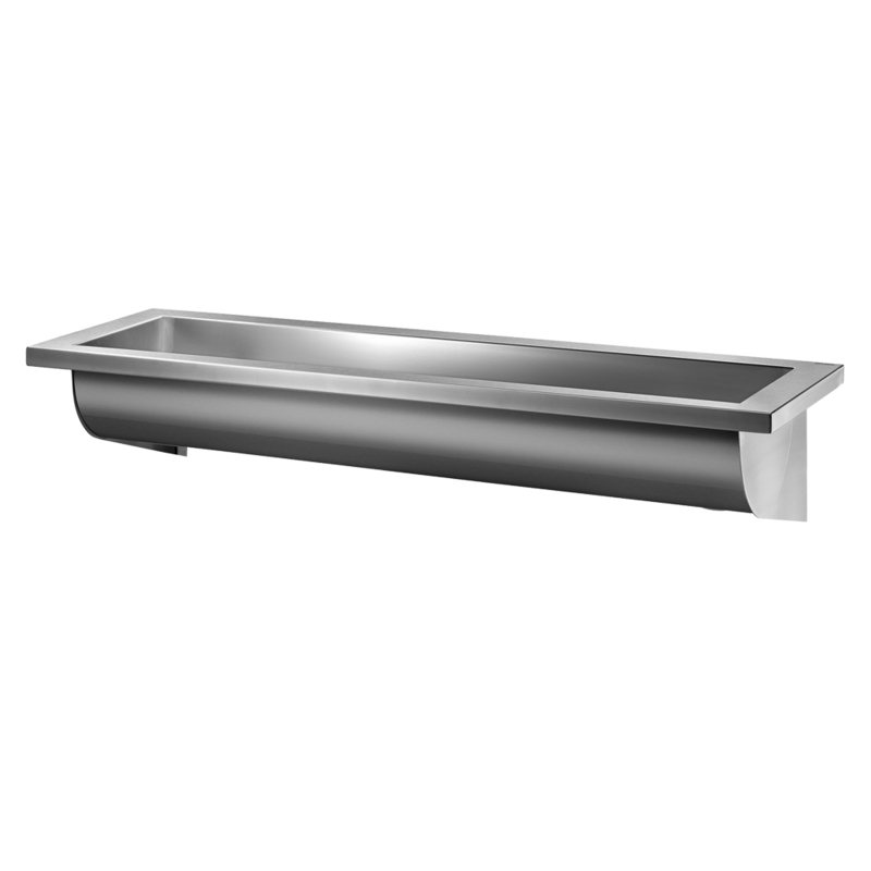 120250 Wall mounted CANAL wash trough  3D View