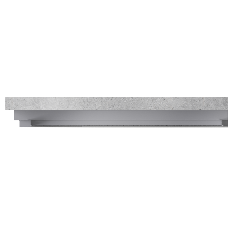 Overcladding with steel or alu sidings in horizontal position  Top