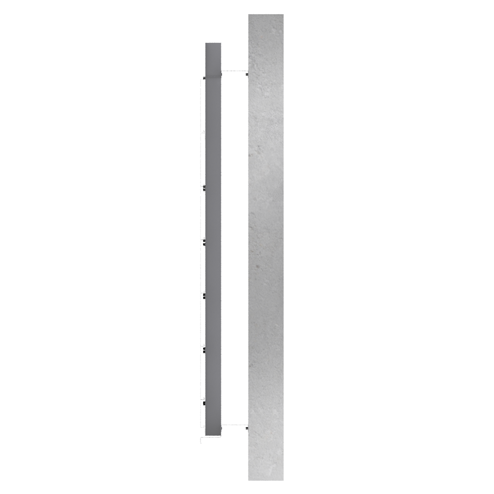 Overcladding with steel or alu sidings in horizontal position  Right