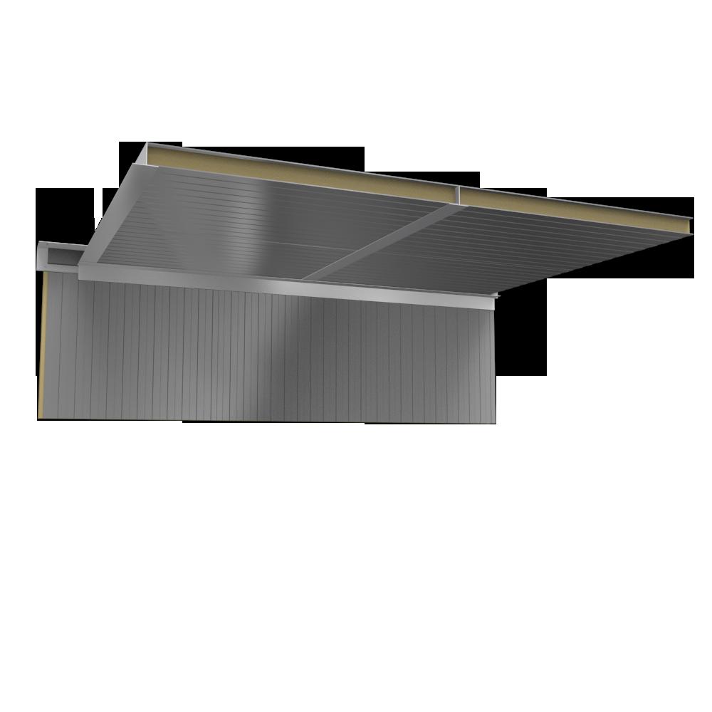 Ceiling sandwich panels 2 steel facings mineral wool core  3D View