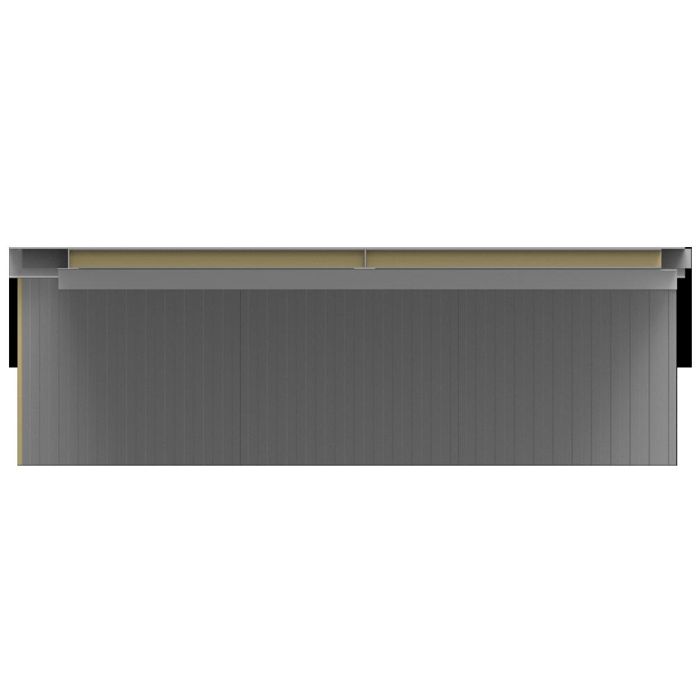 Ceiling sandwich panels 2 steel facings mineral wool core  Front