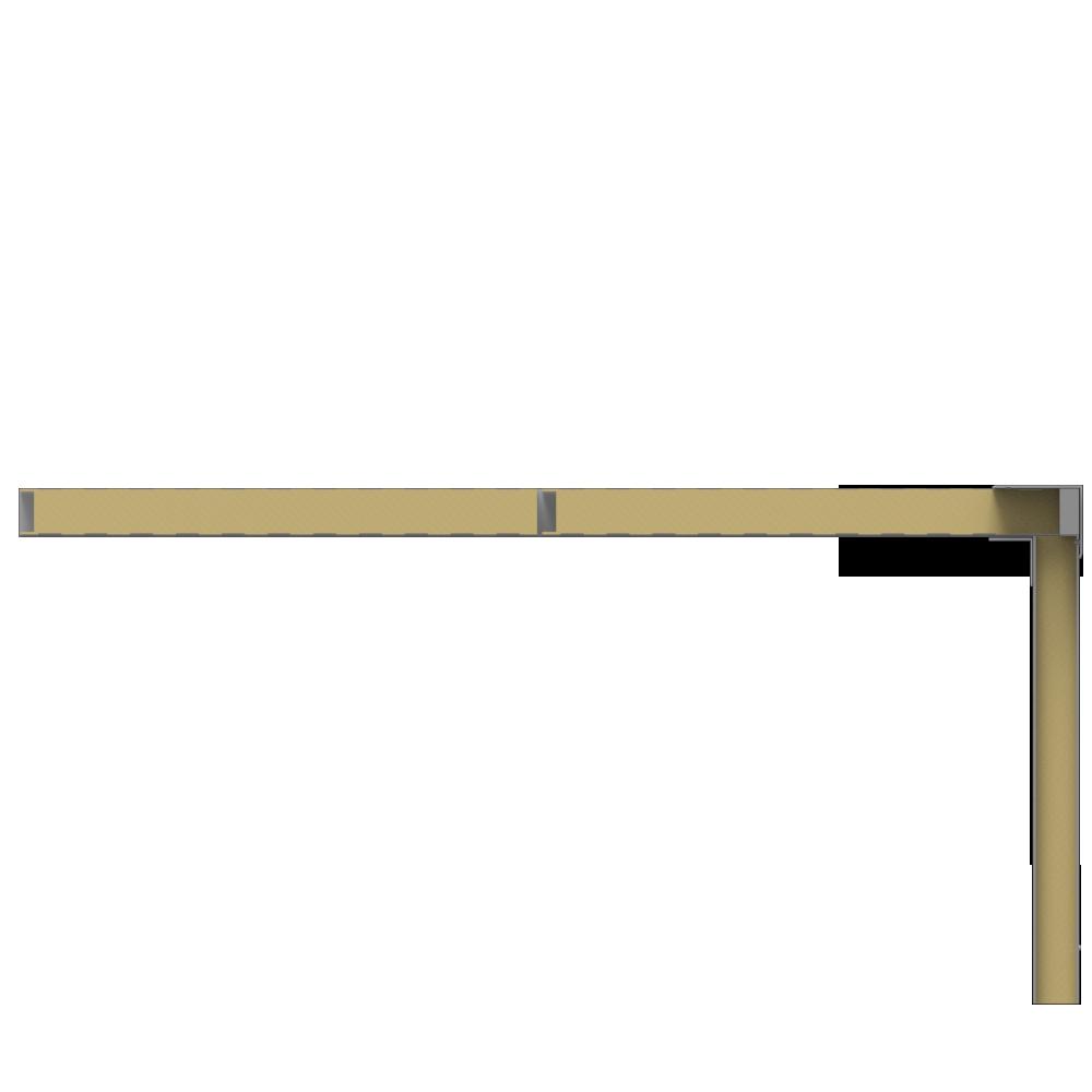 Ceiling sandwich panels 2 steel facings mineral wool core  Right