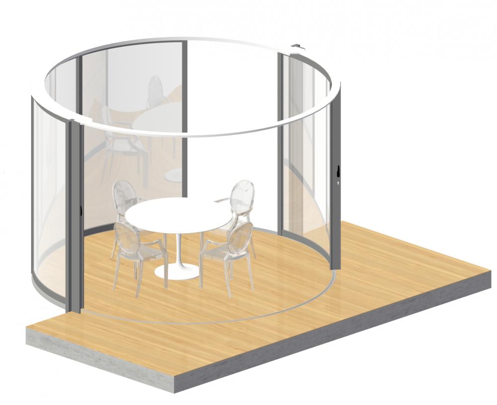 LUMICENE circular window concept  3D View