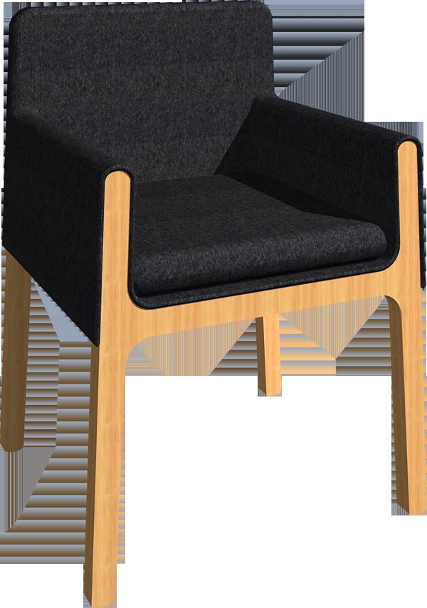 H Armchair  3D View
