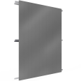 Single skin cladding with steel or alu sidings in V pos