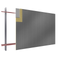 Steel facings s with panel cladding PUR PIR core V pos visible fixing