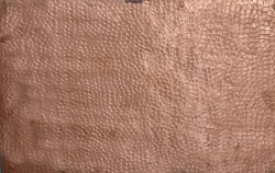 Metal copper bumps dented