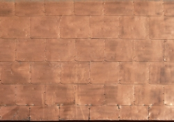 Metal copper tiles
