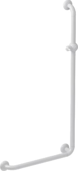 Barre de douche POLYALU Blanc en L