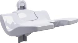Siege de douche Ergosoft Relevable hauteur reglable sur 100mm blanc