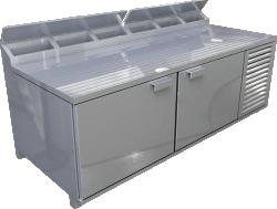 Pizza Prep Refrigerators RPT Model No 72SC