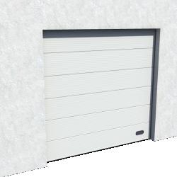 Porte Industrie Micro rainuree Ral 9006 Levee Normale et Levee Haute