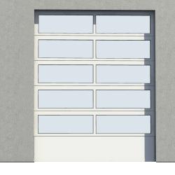 Porte Industrie vitree 01 Levee Normale en Pente