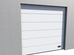 Porte Industrie Micro rainuree Ral 9010 Levee Verticale