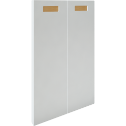 2p Door f Corner Base Cabinet Set Right Hand White