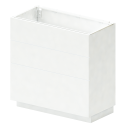 METOD Base Cabinet With Shelves 2 Doors White Ringhult White
