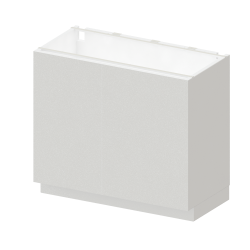 METOD MAXIMERA Base Cabinet with door 2 Drawers White Bodbyn Grey
