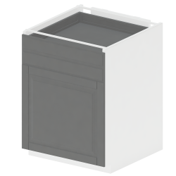 METOD MAXIMERA Base Cabinet with Doors 2 Drawers White Bodbyn Grey