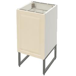 METOD Base Cabinet With Shelves 2 Doors White Veddinge Grey